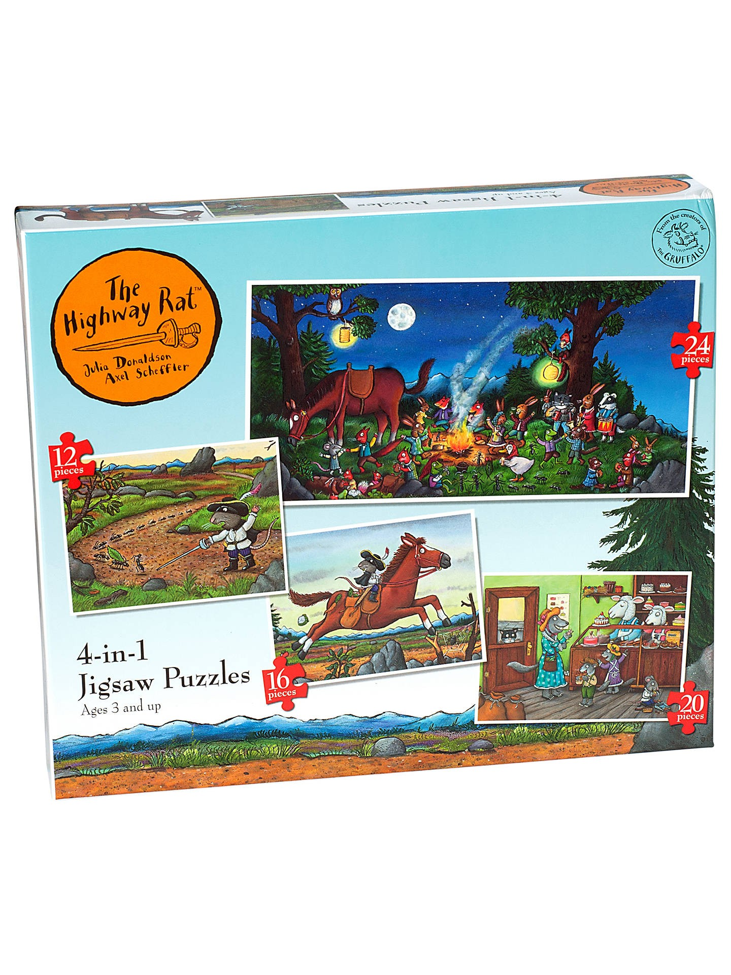 BuyRavensburger The Highway Rat 4 in 1 Jigsaw Puzzle line at johnlewis