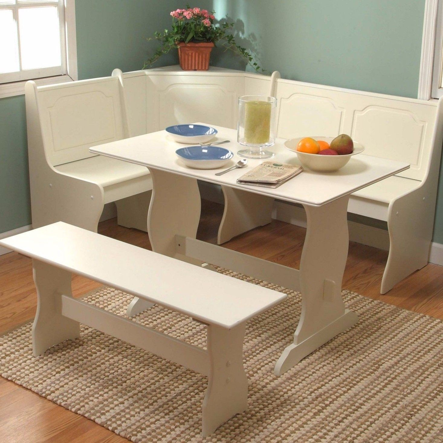 Decorative Kitchen Furniture Set 29 White Dining Breakfast Nook Corner Booth Bench Table Seat 5a2e c5f Home