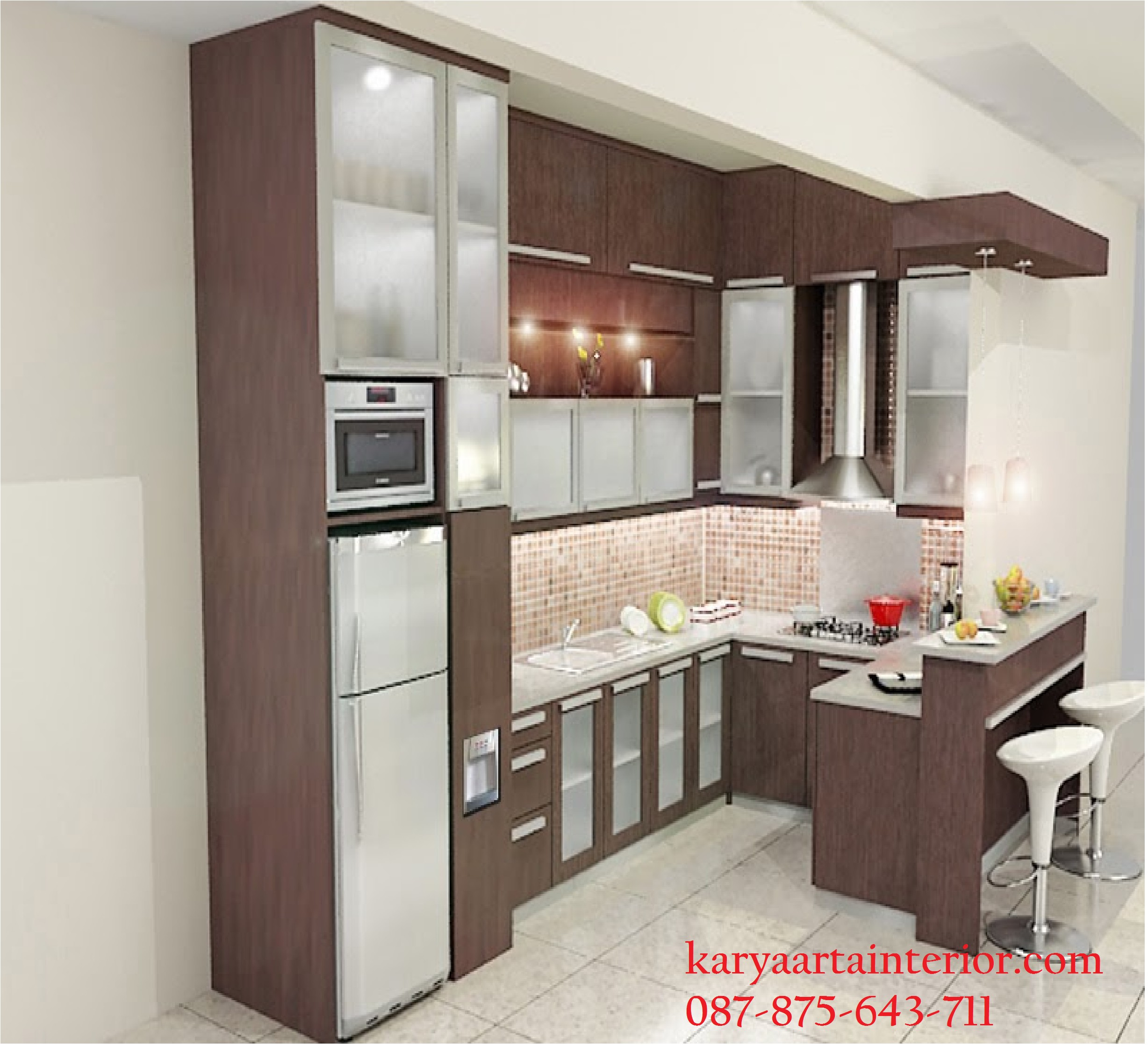 Desain Kitchen Set Minimalis Mini Bar Karya Arta Interior