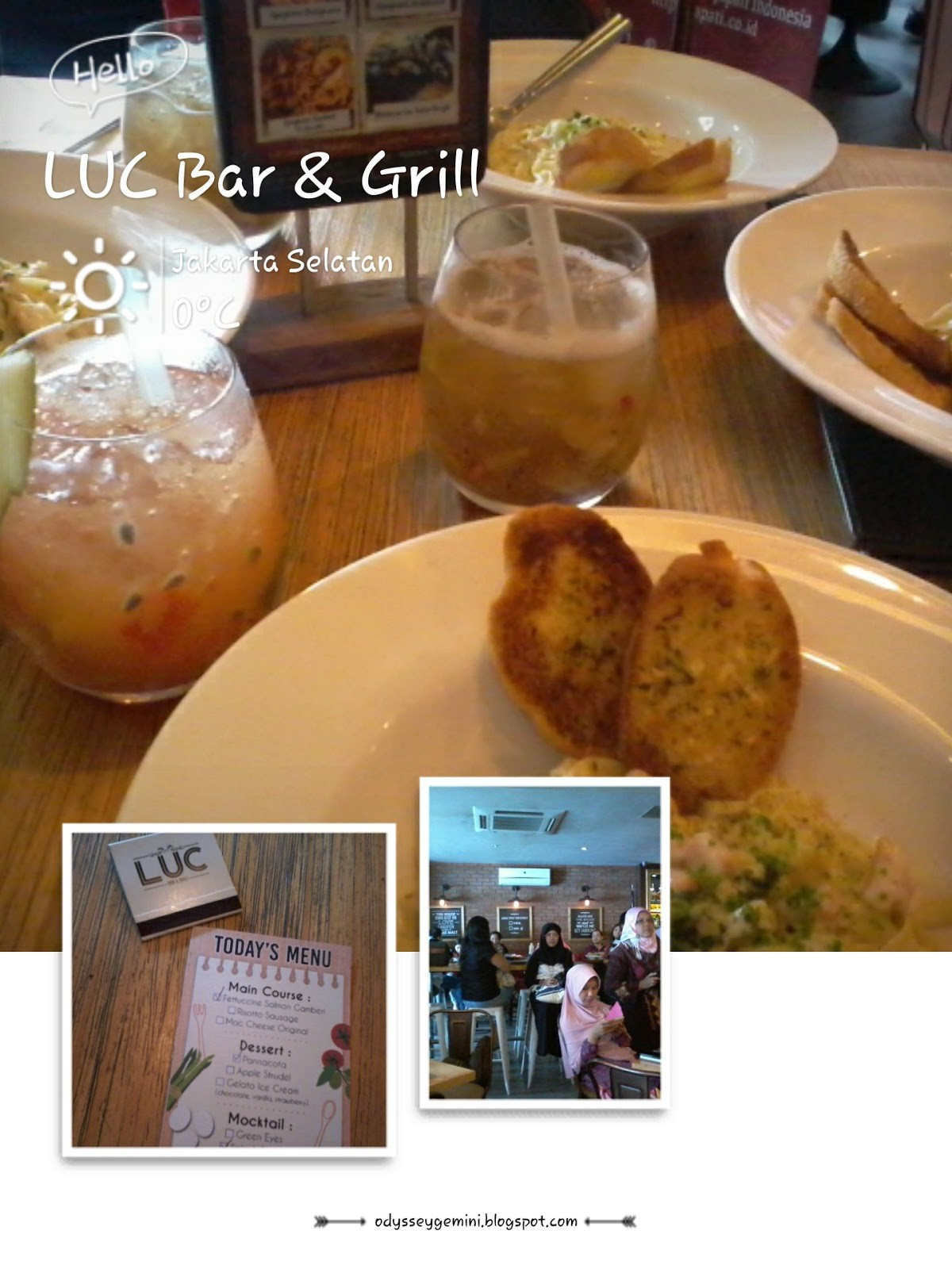 Keceriaan Food Bloggers di LUC Bar and Grill