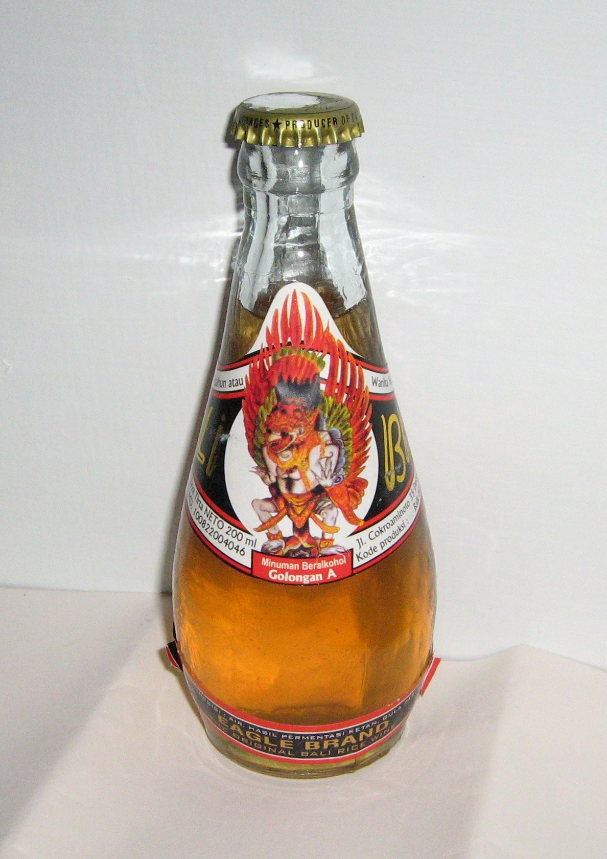 Balinese brem with alcohol content author Hegariz 2008