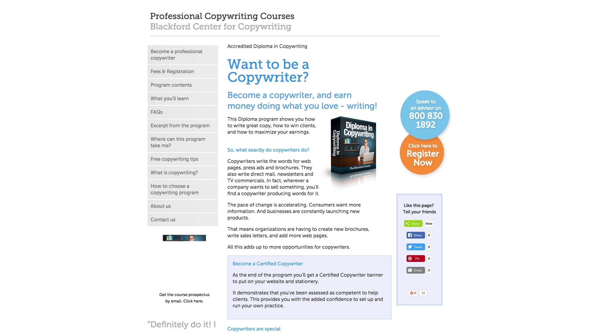 $872 – $992 for full online course and printed materials