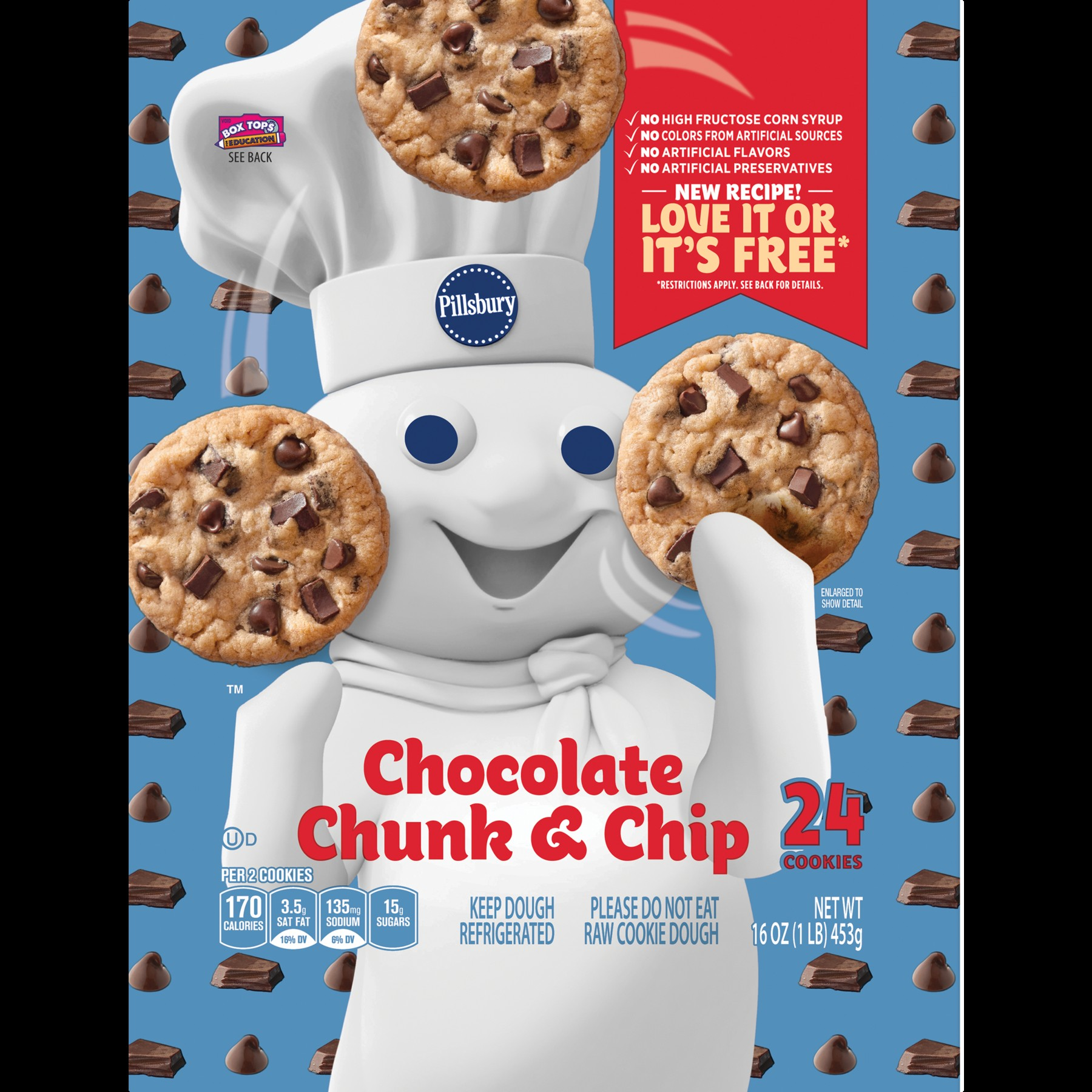 Bahan Wallpaper Dinding 3d Terbaru Untuk Pillsbury Ready to Bake Chocolate Chunk and Chip Cookies 24 Ct 16