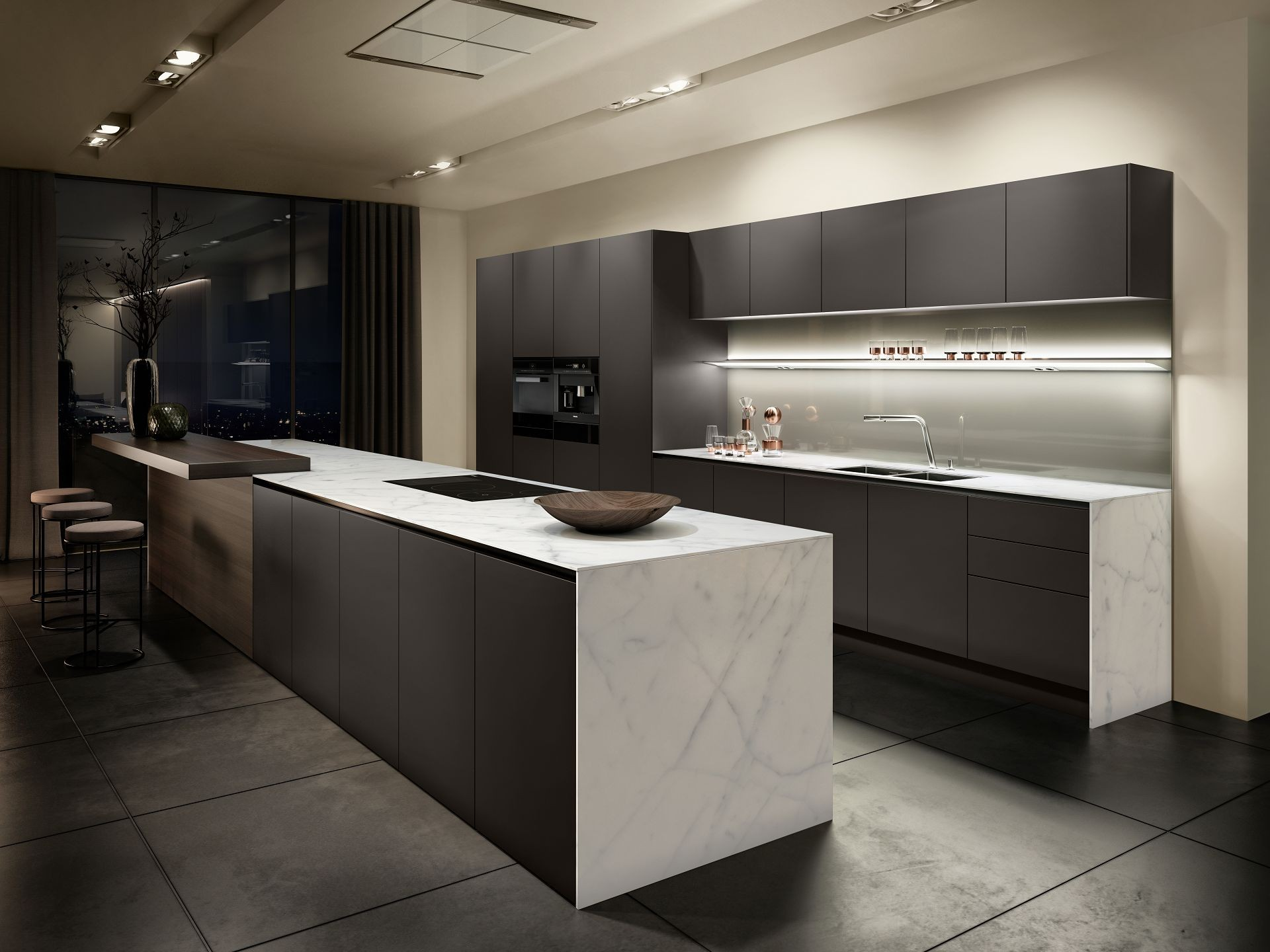 Desain kitchen set model u terbagus untuk siematic pure minimalist kitchen design maximum precision