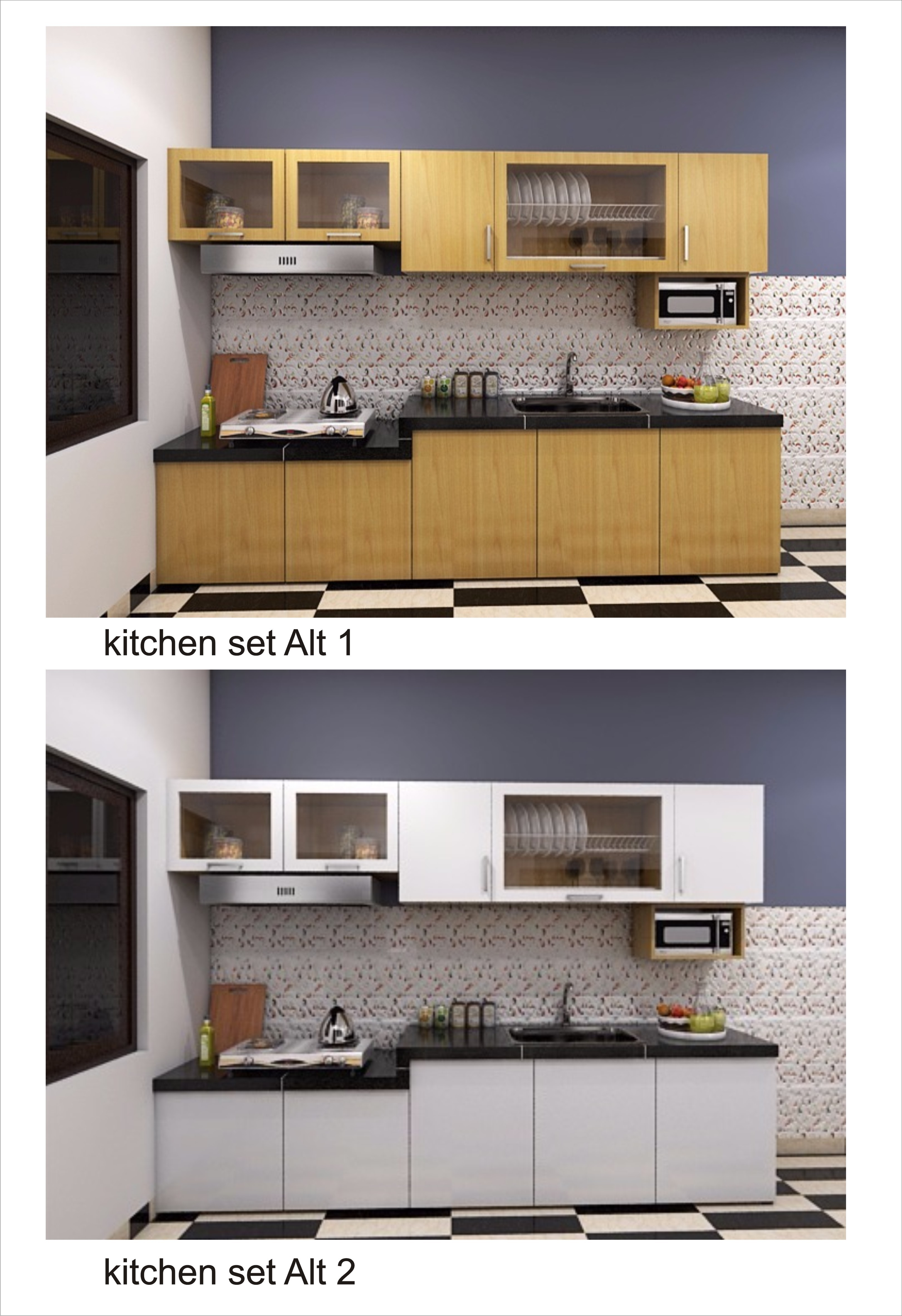 Kitchen set kayu palet minimalis