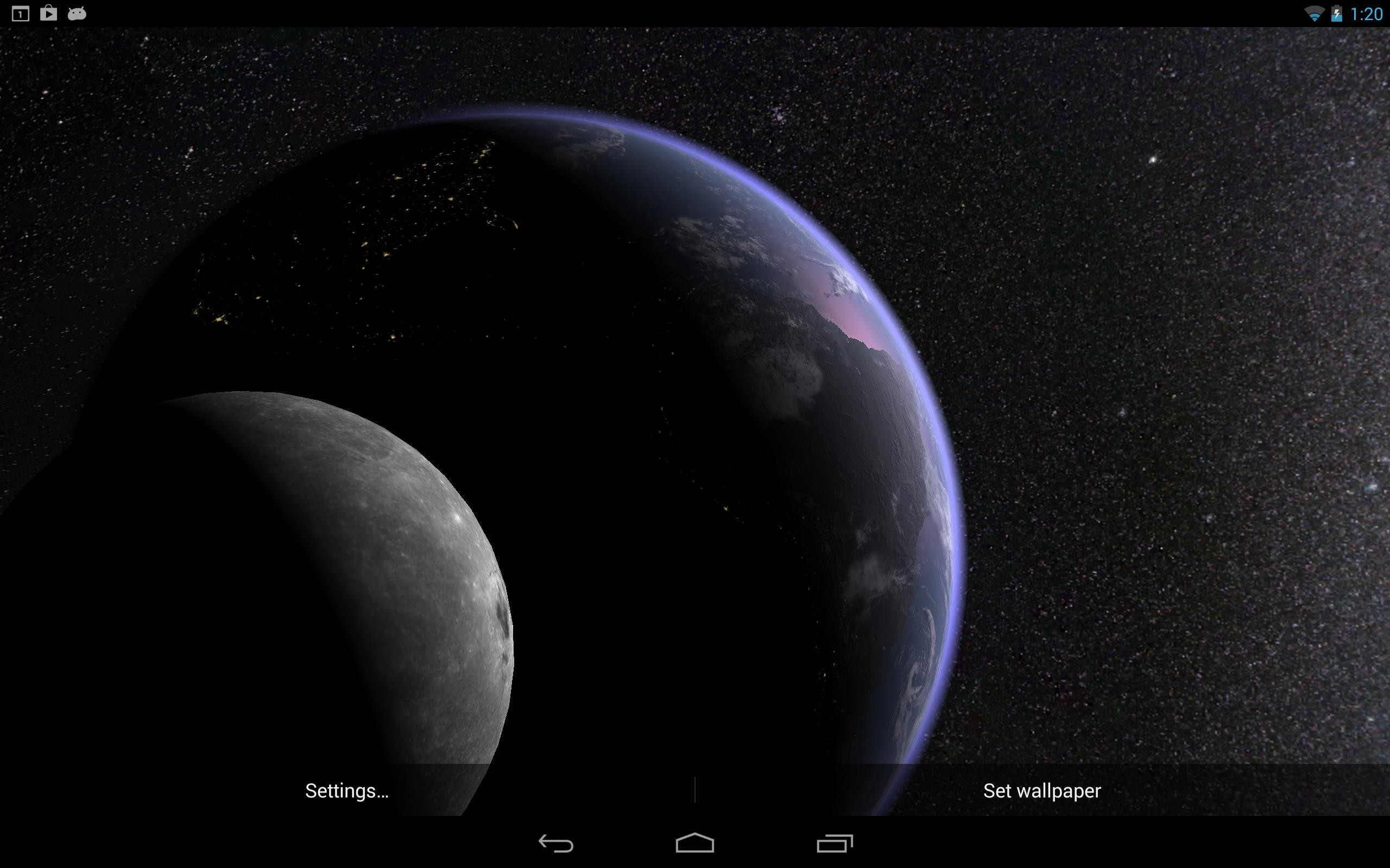 Wallpaper Dinding 3d Alam Paling Bagus Untuk Earth & Moon In Hd Gyro 3d Pro Amazon Appstore for android