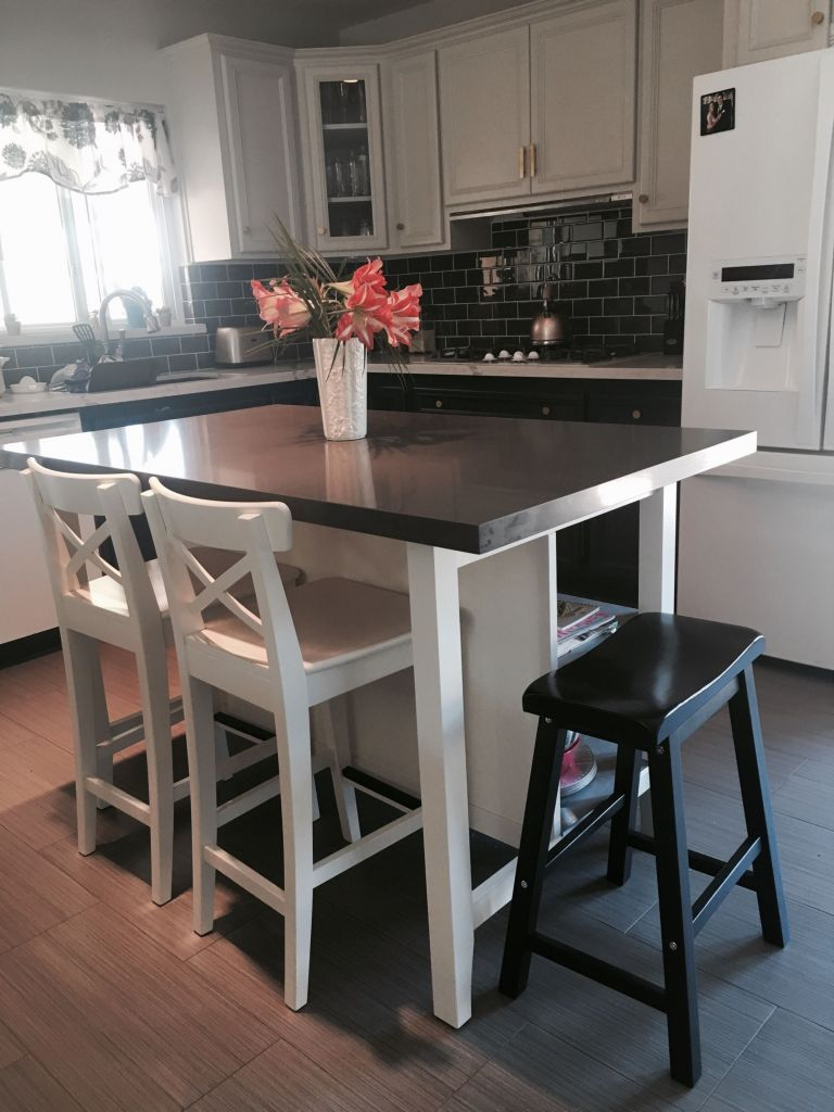 White Kitchen island with Stainless Steel top Beautiful Kitchen Prep Table Ikea Elegant Kitchen Endearing Od