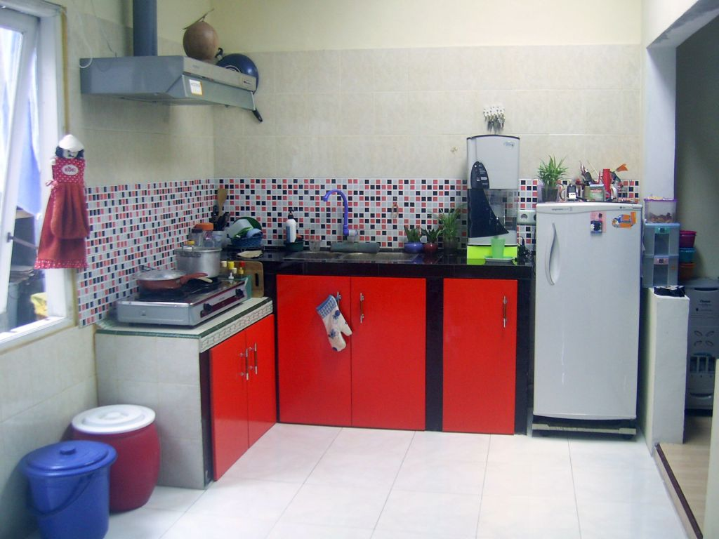 Red Kitchen Kitchen Sets Kitchenette Lembang Backyard Kitchen Kitchen Organization