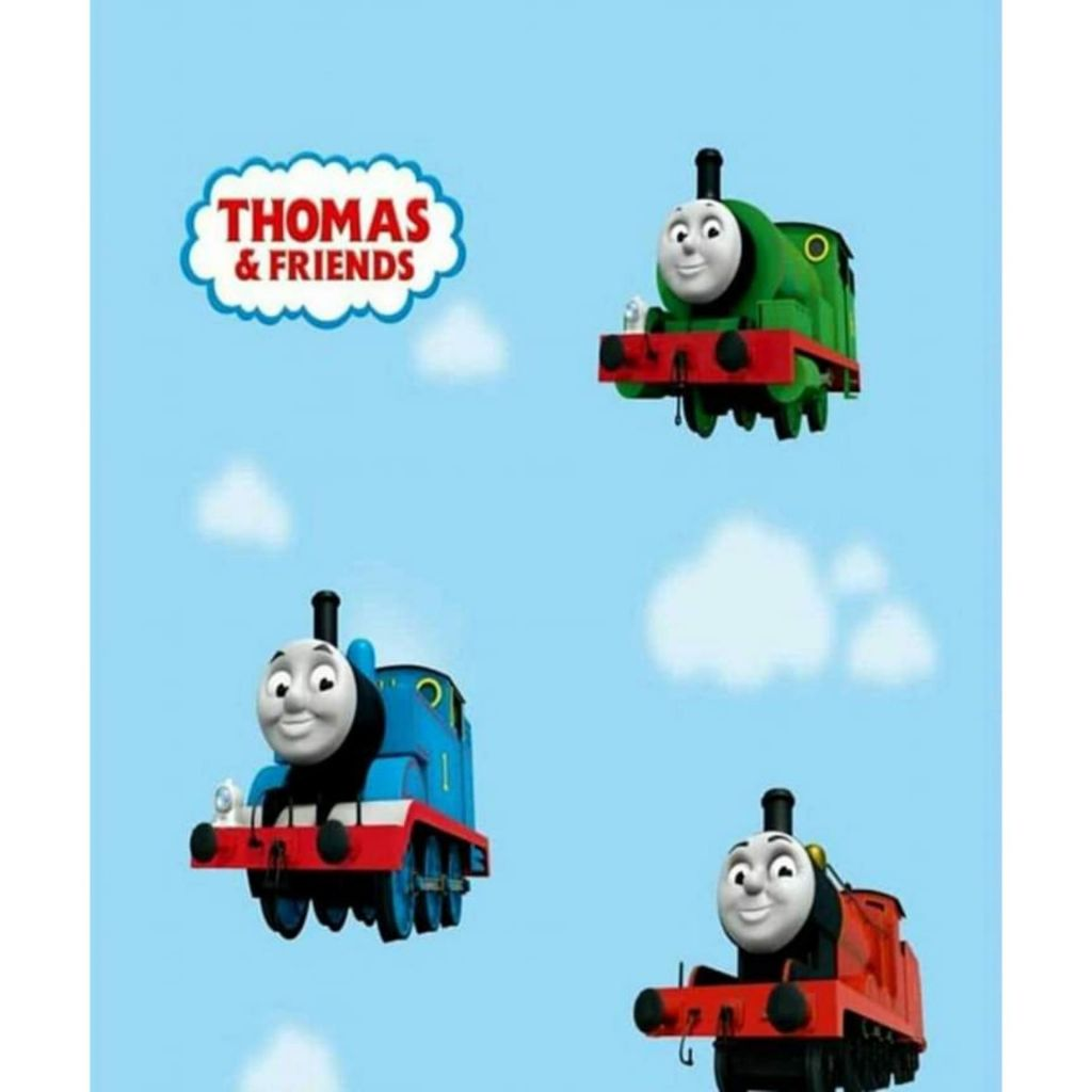 WALLPAPER STICKER WALLPAPER DINDING MOTIF THOMAS WALLPAPER KAMAR ANAK