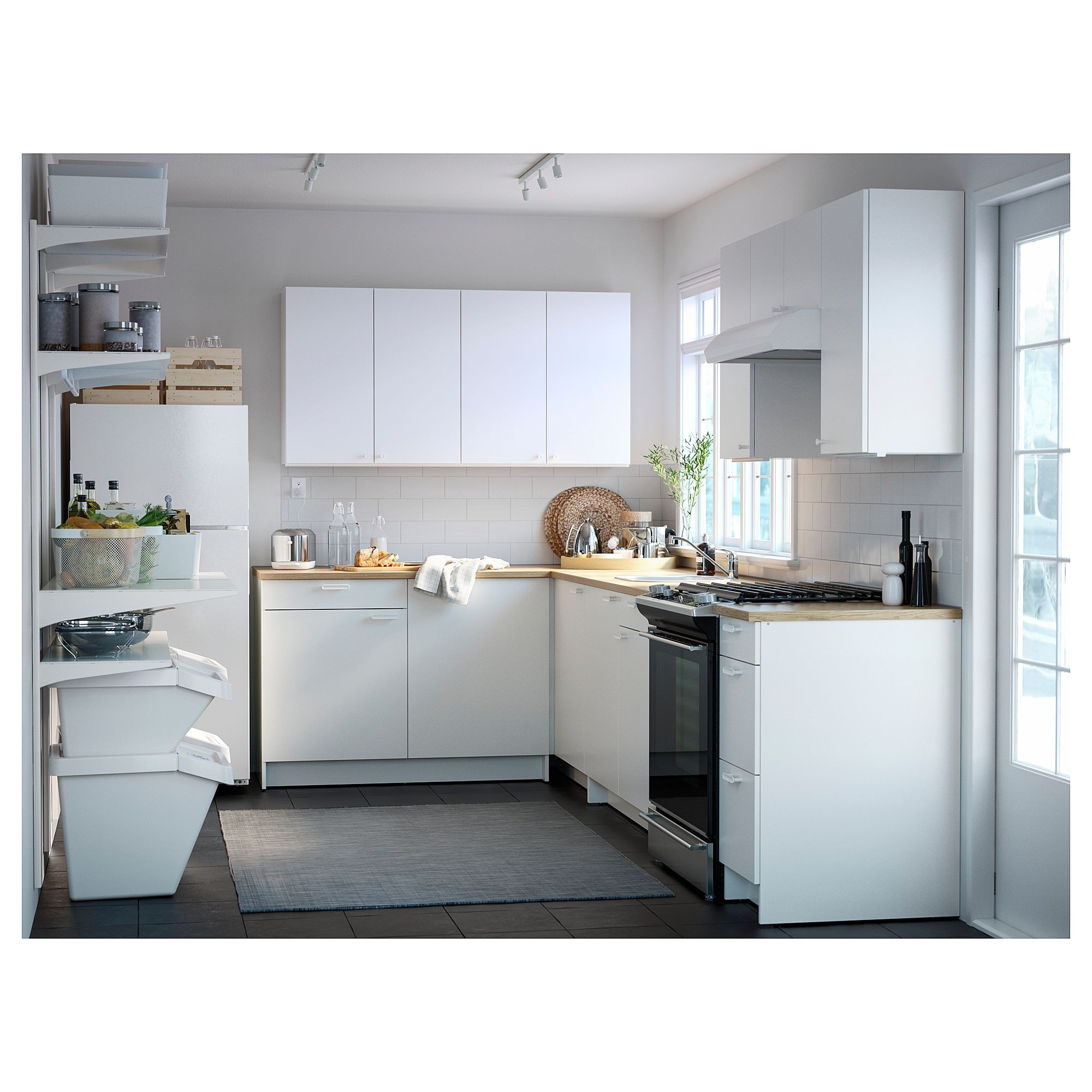 IKEA KNOXHULT Base cabinet with doors and drawer white