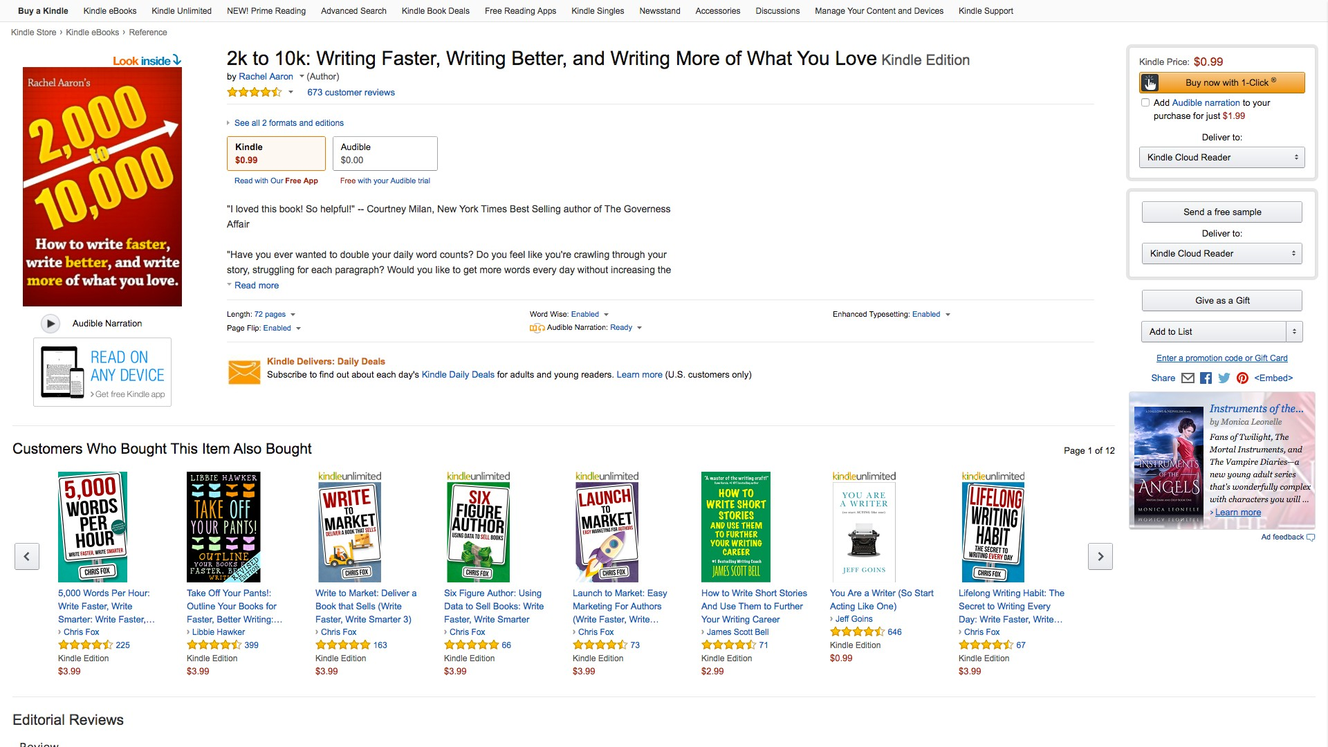 28 2k to 10k Writing Faster Writing Better and Writing What You Love