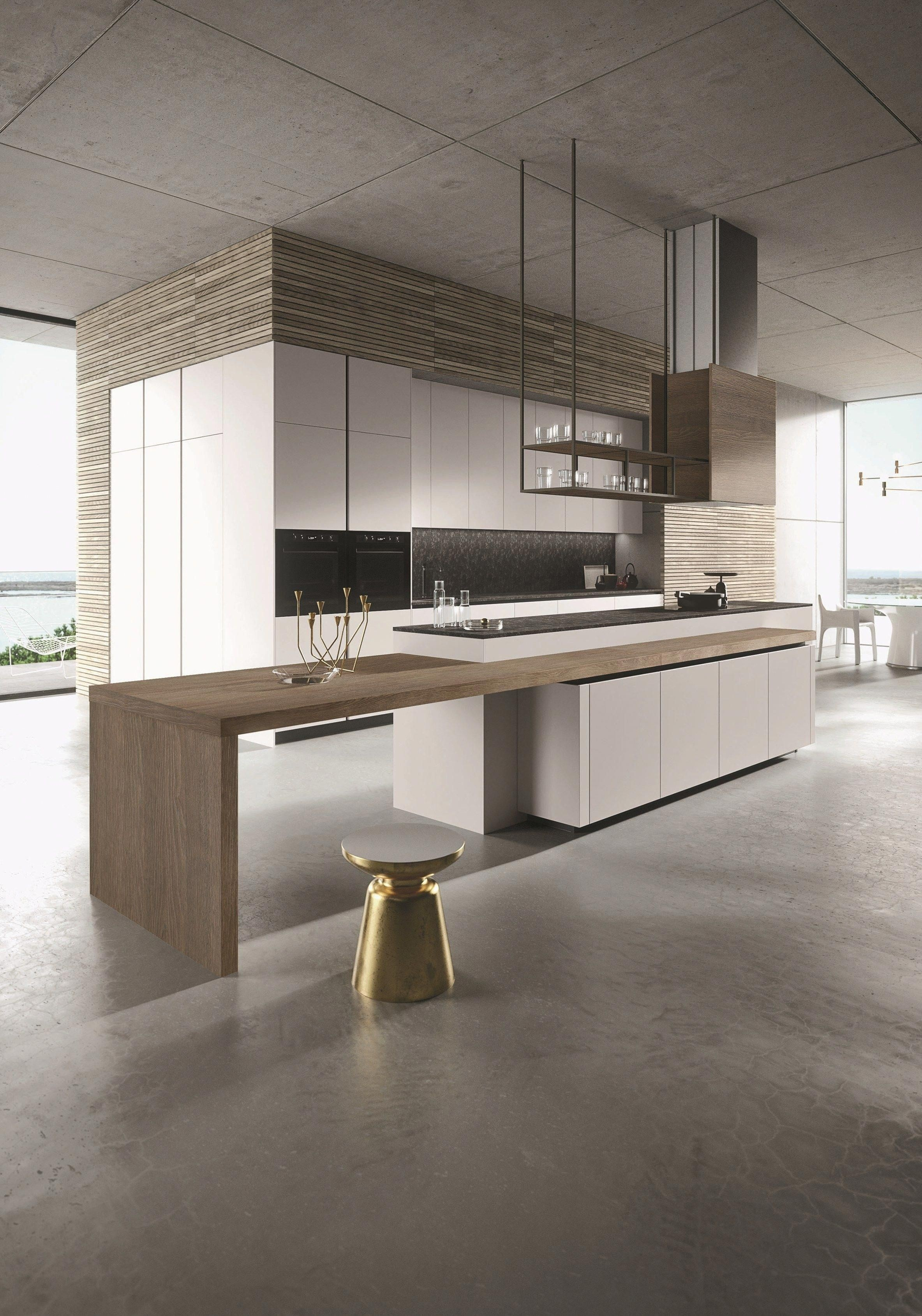 LOOK Cocina con isla Colecci³n SISTEMA by Snaidero dise±o Michele Marcon kitchendesign Modern Kitchen
