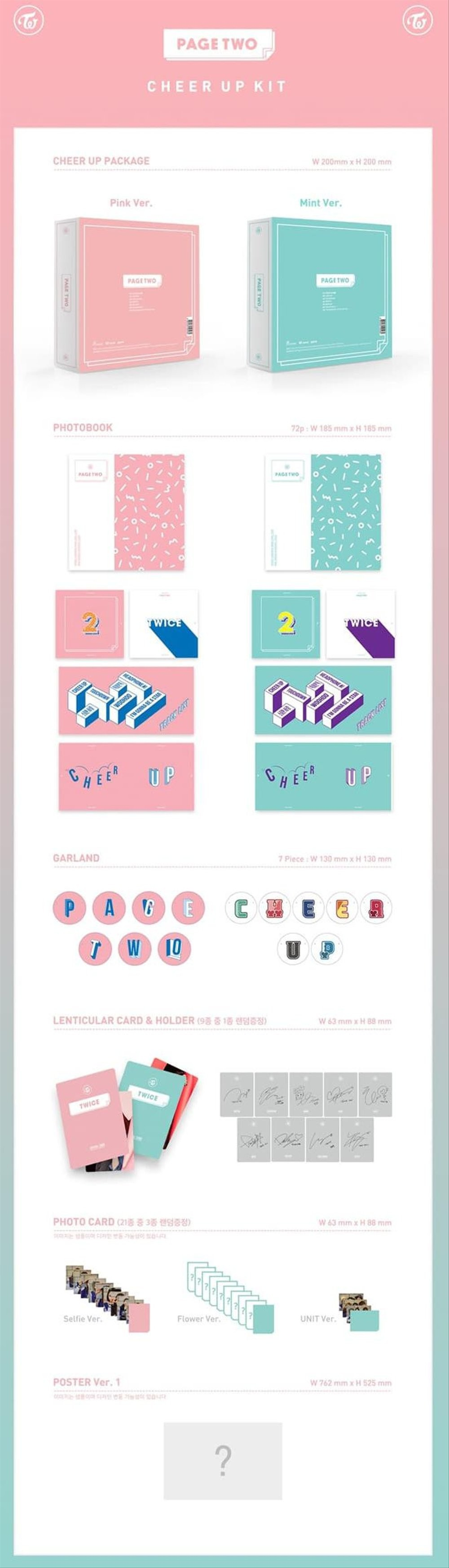 Cd Album Twice Page Two PinkMint Ver Ready No Poster