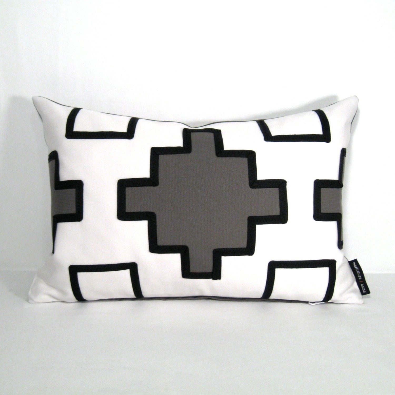 outdoor pillows grey geometric minimalis black and white geometric pillow l 132a14a604dcac72